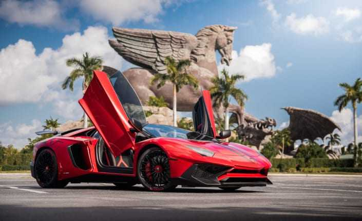 Lamborghini aventador SV rental Miami