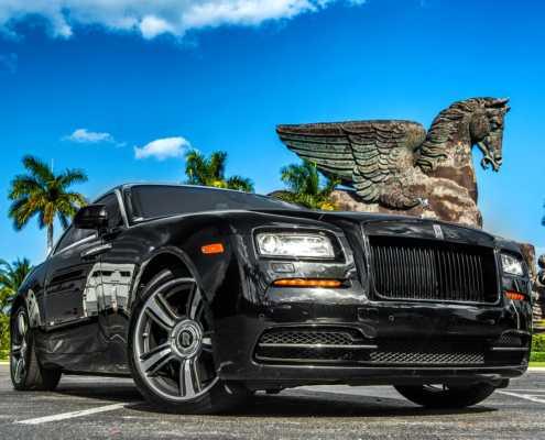 Rolls Royce Wraith Black Miami