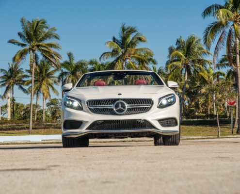 Mercedes S550 cabrio rental Miami