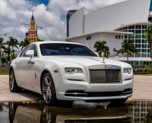 Аренда Rolls Royce Wraith 2018 Белый в Майами