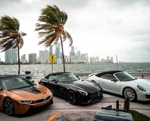 BMW I8 Roadster 2019 Gold rent in Miami