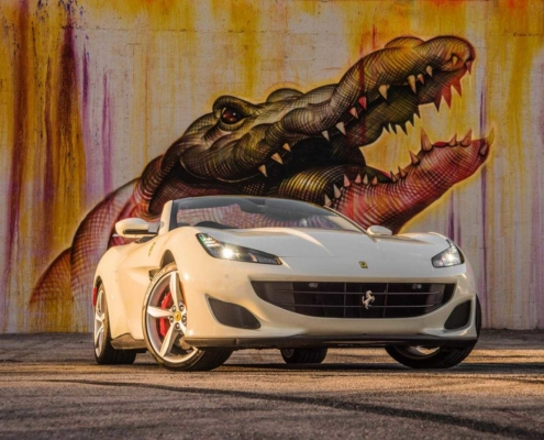 Ferrari portofino Spyder 2019 White rent in Miami
