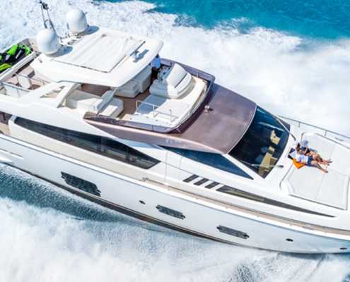 Rent Yacht Ferretti 80 in Miami