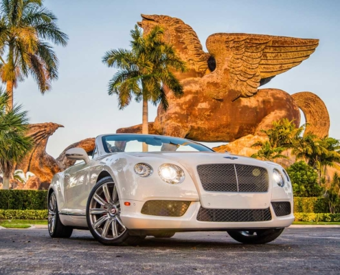 Rent Bentley Continental GT White in Miami