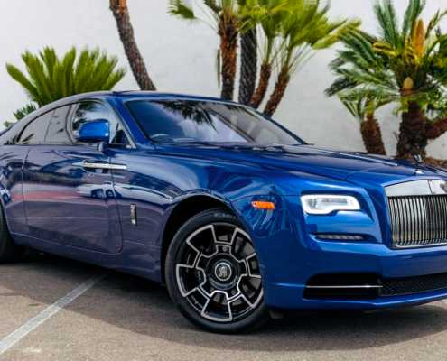 Rolls Royce Wraith Blue rent Miami
