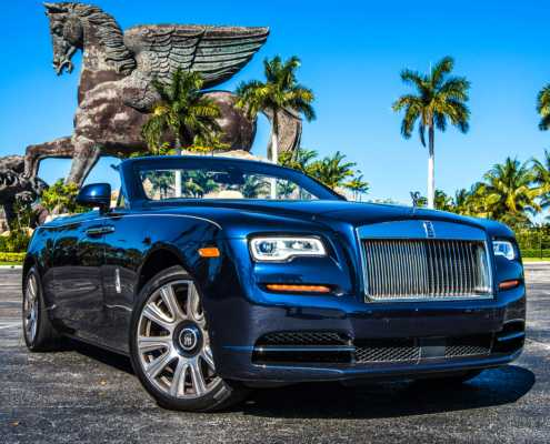 Rolls Royce Dawn Blue Miami