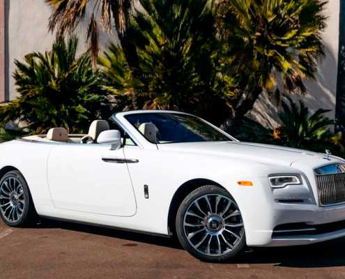 Rolls Royce Dawn White Rent Miami 2